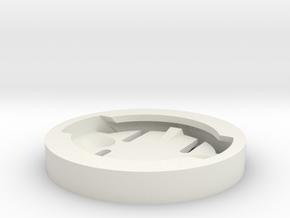 Garmin edge mount disk (compatible with mio) in White Natural Versatile Plastic