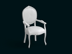 1:10 Scale Model - ArmChair 07 in White Natural Versatile Plastic