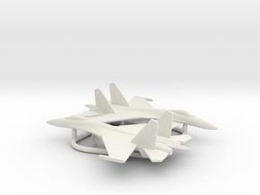 Sukhoi Su-27 Flanker in White Natural Versatile Plastic: 1:350