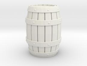 Wooden Barrel 1/35 in White Natural Versatile Plastic