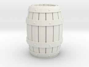 Wooden Barrel 1/24 in White Natural Versatile Plastic
