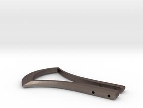 Hero Belt Buckle part 1 in Polished Bronzed-Silver Steel