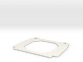Traxxas Sledgehammer 1827 batter hold down in White Natural Versatile Plastic
