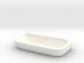 Bath sink counter-top 1:12, 1:24 in White Processed Versatile Plastic: 1:12