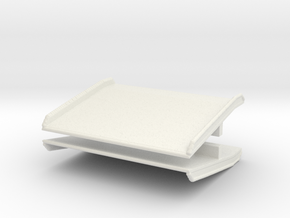 Warehouse Dock Board (x2) 1/64 in White Natural Versatile Plastic