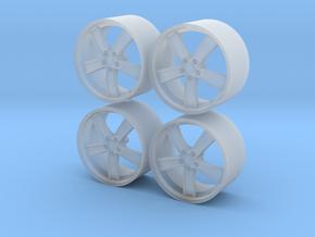 1/24 - 20'' MAK Chrono - model car wheels (male) in Smoothest Fine Detail Plastic