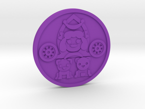 The Chariot Coin in Purple Processed Versatile Plastic