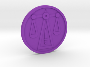 Justice Coin in Purple Processed Versatile Plastic