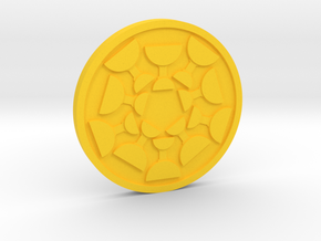 Ten of Cups Coin in Yellow Processed Versatile Plastic