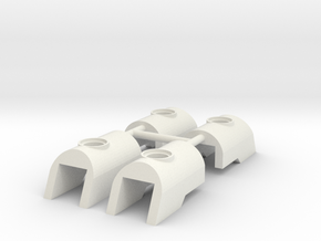 Nuva Shell Armour for Bionicle - 4 parts in White Natural Versatile Plastic