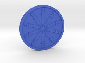 Ten of Swords Coin in Blue Processed Versatile Plastic