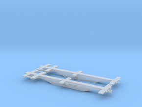 Spline Car Pair - Zscale in Smooth Fine Detail Plastic