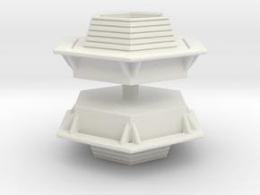 Hexagonal Bench (x2) 1/120 in White Natural Versatile Plastic