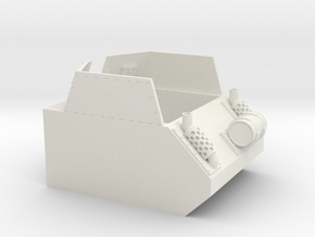 40k Salamander Recon or Command tank Section in White Natural Versatile Plastic