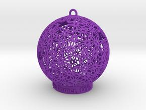 Creator Ornament in Purple Processed Versatile Plastic