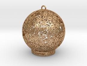 Creator Ornament in Natural Bronze