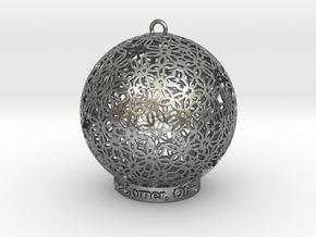 Creator Ornament in Natural Silver