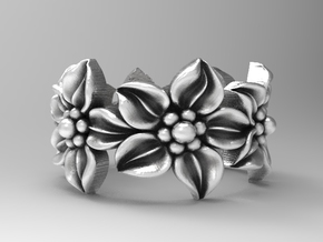 Flower Ring Size 4.5 in Natural Silver