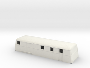 Swedish wagon for railcar UDFo3 H0-scale in White Natural Versatile Plastic