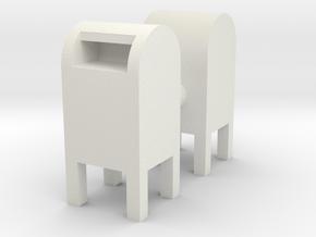 USPS Mailbox (x2) 1/56 in White Natural Versatile Plastic