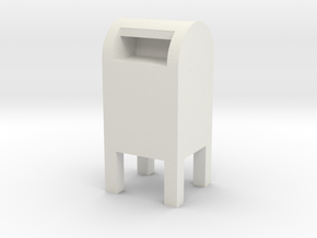 USPS Mailbox 1/35 in White Natural Versatile Plastic
