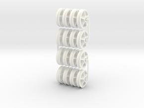 16MN01x16 5 Spoke Maenofferen wheel (x16) SM32 in White Processed Versatile Plastic