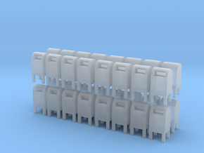 USPS Mailbox (x32) 1/160 in Smooth Fine Detail Plastic