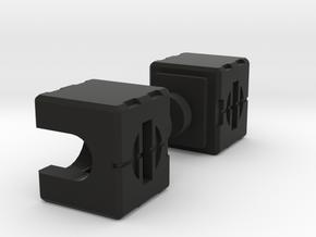 MP Cliffjumper Shoulders for Xtransbot Toro in Black Premium Versatile Plastic