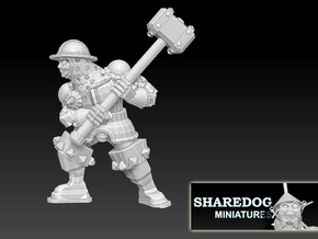 Character Series: Maul Soldier in White Natural Versatile Plastic
