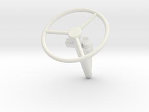 RHD-Column-no-dash in White Natural Versatile Plastic