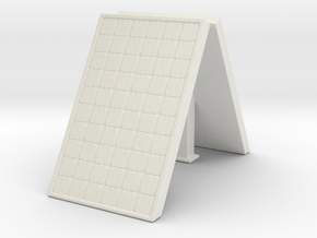 Supported Solar Panel (x2) 1/56 in White Natural Versatile Plastic