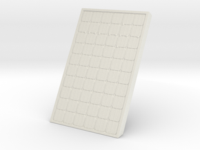 Supported Solar Panel 1/35 in White Natural Versatile Plastic