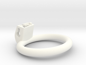 Cherry Keeper Ring - 50x45mm Flat -4° (~47.5mm) in White Processed Versatile Plastic