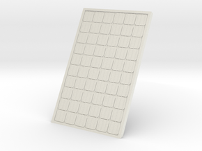 Supported Solar Panel 1/24 in White Natural Versatile Plastic