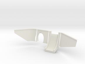 HO Scale - Wrights 1893 Concrete Tunnel Portal  in White Natural Versatile Plastic