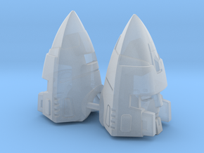 Tetrajet pointy heads (Set of 2) in Smooth Fine Detail Plastic