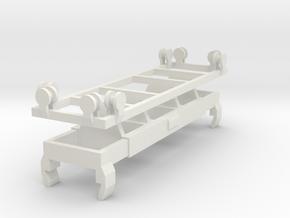 BCI Crane Spreader N scale in White Natural Versatile Plastic