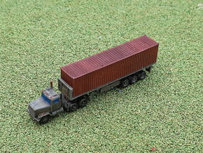 M915 Tractor w. M872 Semitrailer & Container 1/285 in Smooth Fine Detail Plastic
