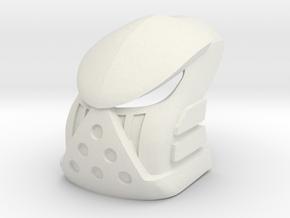 Kanohi Koromau- Mask of Rahi Control in White Natural Versatile Plastic