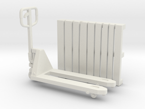 PalletJack 01. Scale 1:35 in White Natural Versatile Plastic