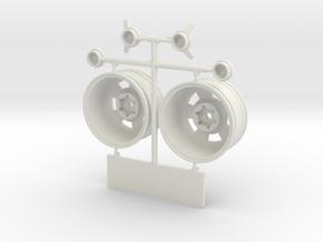VTA001-CSS 26 mm VTA Fr Wh Set in White Natural Versatile Plastic