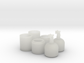 1/24 One Pair of Nitrous Bottles with Valves in Frosted Ultra Detail
