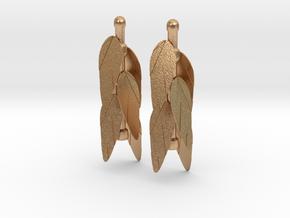 Leaf Earrings in Natural Bronze