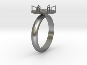 Merry-Go-Round Ring in Natural Silver