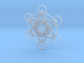 Metatrons Cube in 3 Layers in Smooth Fine Detail Plastic