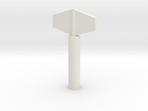 Grandus Head Antenna in White Natural Versatile Plastic