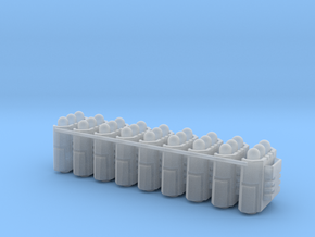 Custom Missile Pods for Crisis Suits (small) in Smooth Fine Detail Plastic