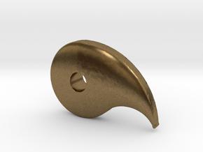 Magatama  in Natural Bronze