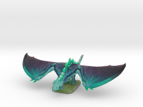Winter Wyvern Default Pose in Natural Full Color Sandstone