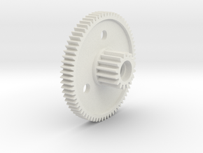 Tamiya 50377 70 tooth spur gear, king cab, hilux,  in White Natural Versatile Plastic